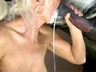 horse cum in mouth